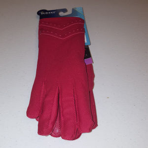 Isotoner Red Touch Gloves S/M